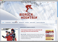 Bigrock Mountain page screenshot