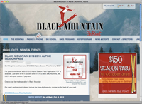 Ski Black Mountain page screenshot
