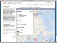Northeast Ocean Data page screenshot