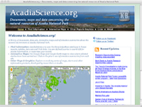 AcadiaScience.org home page screenshot