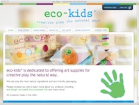 Eco-Kids home page screenshot