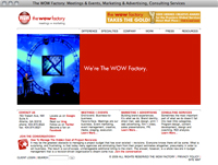 The Wow Factory home page screenshot