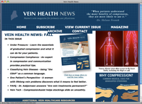 Vein Health News page screenshot